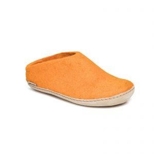 Lav hælkappe orange tøffel